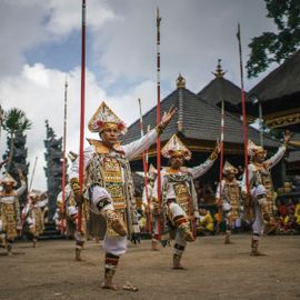 Baris Jangkang Dance, a Sacred Dance Which Becomes Indonesian Cultural Heritage