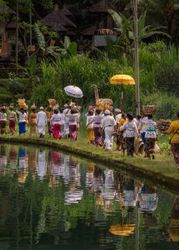 The Balinese Hindu Prepare for the Victory on The Galungan Day