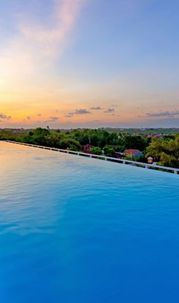 The Sensation of Infinity Pool above the Sky