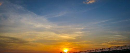Exotic Sunset at Kelan Tuban Beach