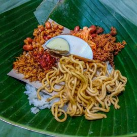 A Plate of Wind Rice, Legendary Food from Tabanan