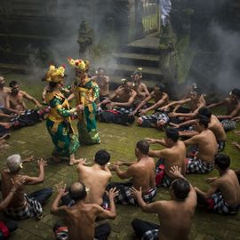 Title: The Story of Rama and Shinta in the Kecak Dance