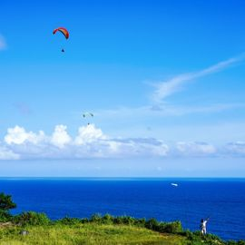 Paragliding in Bali: The Sensation of Flying Above Beaches and Cliffs