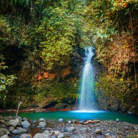 Tukad Barong, a Waterfall in a Cave, Bangli