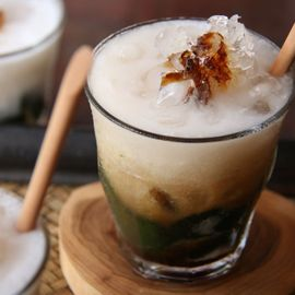 Traditional Balinese Green Fresh Drink, Daluman Ice