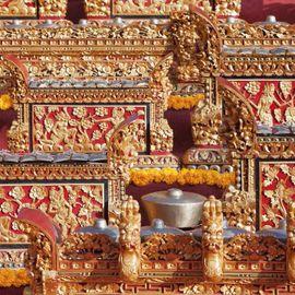 Walking along the Sentra Gong and a Set of Gamelan Instruments in Tihingan Village