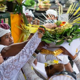 The Tradition of Sharing Happiness After Galungan and Kuningan, Mesuryak