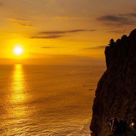 Staring at the Wonderful Sunset from Uluwatu